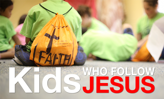 Kids Who Follow Jesus Sermon Series Graphic